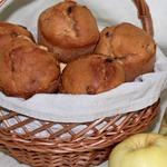 Маффины с пшеном и яблоком