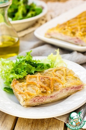 Рецепт Франш-контийская слойка с ветчиной и сыром