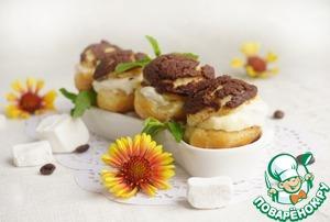 Рецепт Профитроли с шоколадным штрейзелем и кофейными сливками