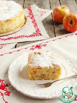 Рецепт Сочный яблочно-манный пирог