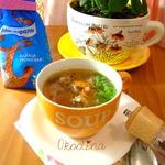 Суп с куриной печенью и гречневой крупой
