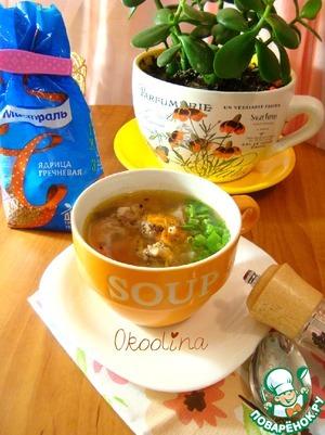 Рецепт Суп с куриной печенью и гречневой крупой