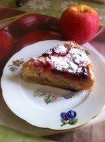 Рецепт Клафути с яблоками и клубникой