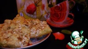 Рецепт Песочный пирог с орехами и сметанным кремом
