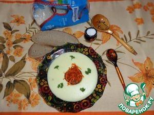 Рецепт Молочный суп-пюре с рисом и кабачком