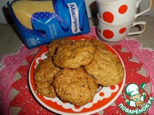 Рецепт Печенье с пшеном и хурмой