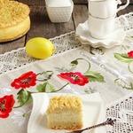 Песочный пирог с манно-лимонным кремом