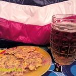 Сырные чипсы с грудинкой к пиву
