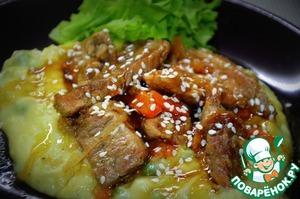 Рецепт Тушеная свинина с соусом терияки