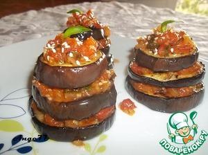 Рецепт Французская закуска из баклажан с помидорами и кунжутом