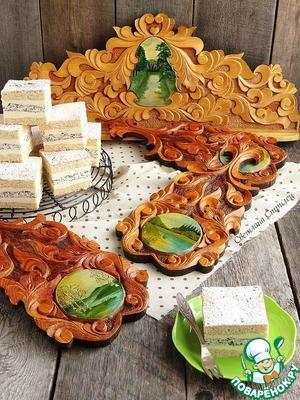 Рецепт Медово-маковый торт с манным кремом