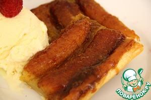 Рецепт Французский банановый тарт (banana tarte tatin)