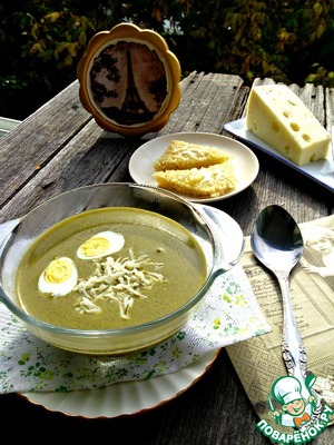 Рецепт Французский суп-пюре из щавеля