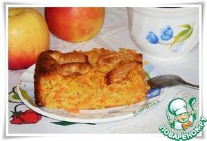 Рецепт приготовления с фотографиями Пирог морковно-яблочный