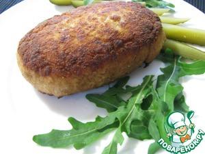 Рецепт Куриные зразы с грибами, яйцом и зеленью