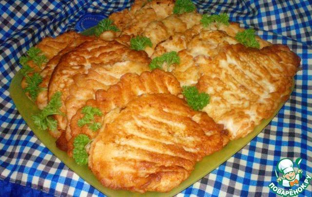 Готовим Куриные отбивные в луковом кляре пошаговый рецепт с фотографиями #4