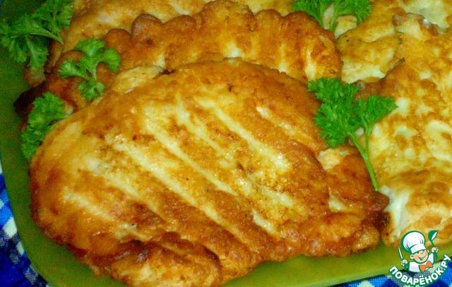 Готовим Куриные отбивные в луковом кляре пошаговый рецепт с фотографиями #5