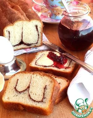 """Рецепт Сдобный хлеб """"Улыбка Чеширского кота"""""""