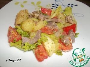 Рецепт Картофельный салат с куриными желудками