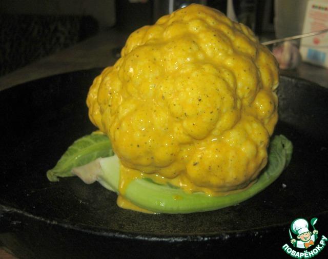 """Как приготовить """"Хрустящий шар"""" из цветной капусты вкусный рецепт приготовления с фото #6"""
