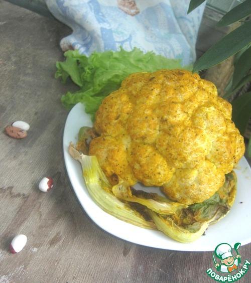 """Как приготовить """"Хрустящий шар"""" из цветной капусты вкусный рецепт приготовления с фото #8"""