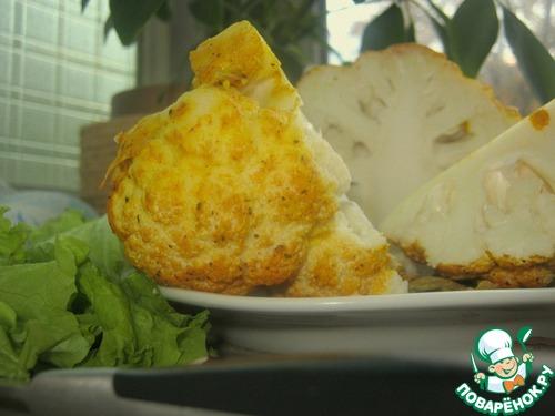 """Как приготовить """"Хрустящий шар"""" из цветной капусты вкусный рецепт приготовления с фото #9"""