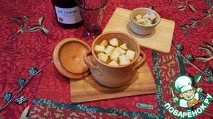 Рецепт Простой луковый суп в горшочках