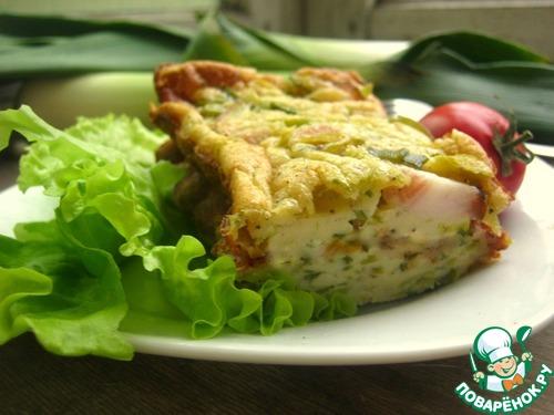 Как готовить Пирог из лук-порея и кусочков сала домашний рецепт с фотографиями пошагово #14