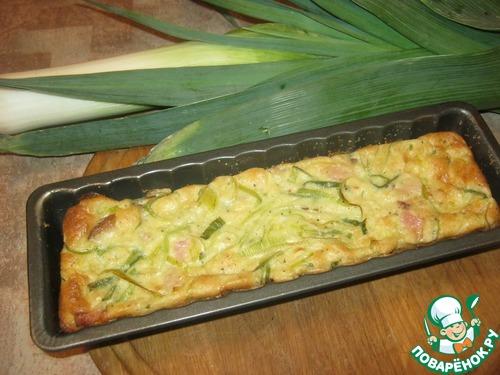 Как готовить Пирог из лук-порея и кусочков сала домашний рецепт с фотографиями пошагово #15
