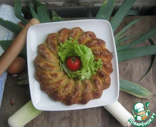 Как готовить Пирог из лук-порея и кусочков сала домашний рецепт с фотографиями пошагово #16