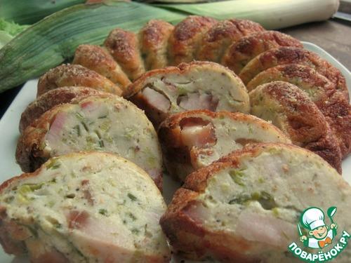 Как готовить Пирог из лук-порея и кусочков сала домашний рецепт с фотографиями пошагово #17