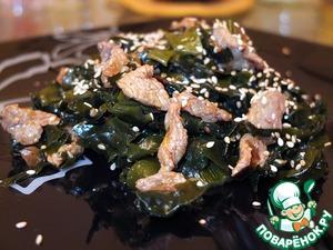Салат из морской капусты с мясом