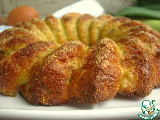 Как готовить Пирог из лук-порея и кусочков сала домашний рецепт с фотографиями пошагово #13