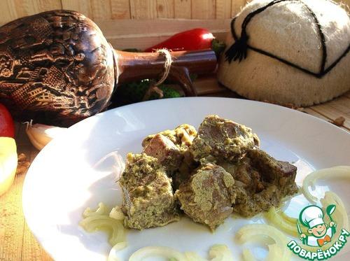 Говядина по-грузински в ореховом соусе рецепт приготовления с фото готовим #6