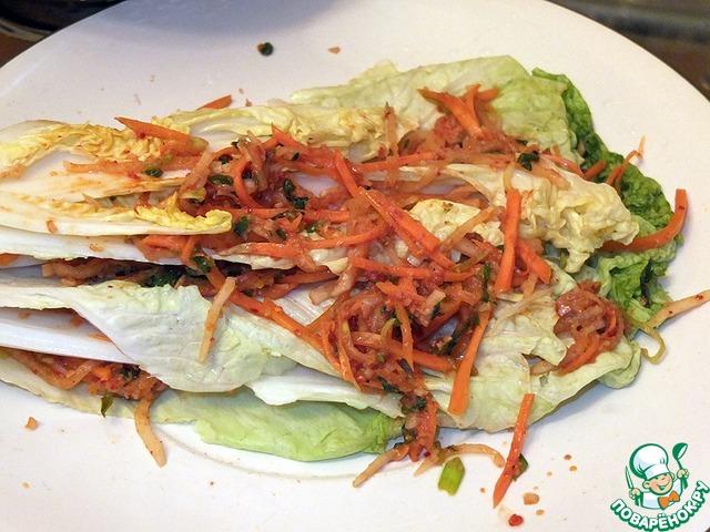 Кимчхи салат из пекинской капусты рецепт приготовления с фотографиями пошагово как готовить #6