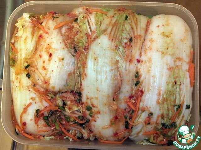 Кимчхи салат из пекинской капусты рецепт приготовления с фотографиями пошагово как готовить #7