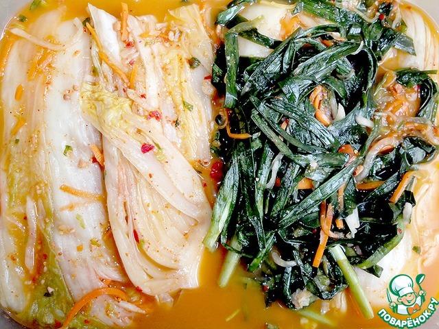 Кимчхи салат из пекинской капусты рецепт приготовления с фотографиями пошагово как готовить #8