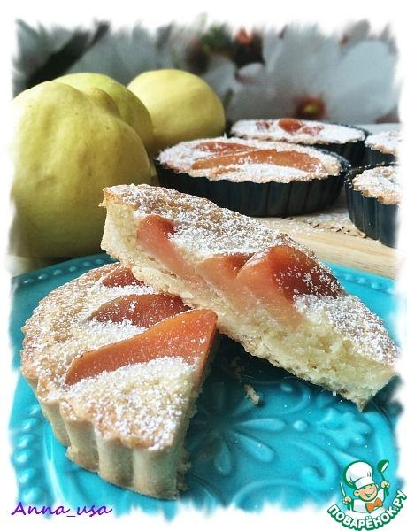 Тарт с айвой и миндальным кремом франжипаном вкусный пошаговый рецепт приготовления с фотографиями как приготовить #15