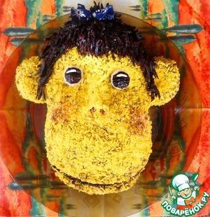 новогодние салаты с обезьянкой