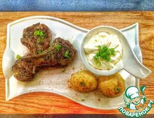 Рецепт Каре ягненка с быстрым картофельным гратеном