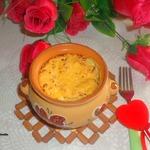 Кассероль с рисом и брокколи
