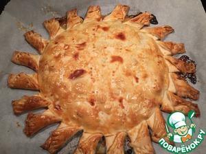 """Рецепт Нежнейший пирог """"Солнечный"""" с куриной грудкой"""