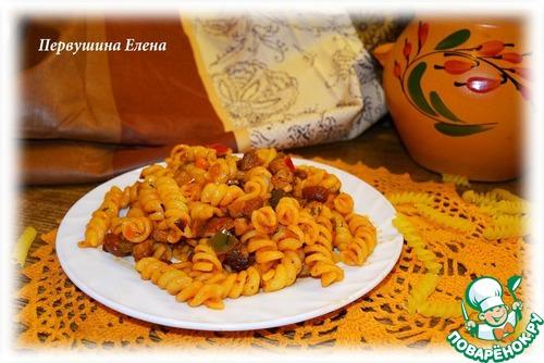 """Макароны в соусе а-ля """"буррито"""" вкусный рецепт с фотографиями как готовить #10"""