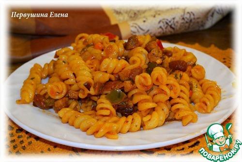 """Макароны в соусе а-ля """"буррито"""" вкусный рецепт с фотографиями как готовить #11"""