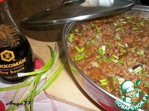 Рецепт Гречка с курицей и овощами