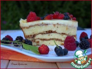 Рецепт Творожная запеканка с отрубями и ягодами