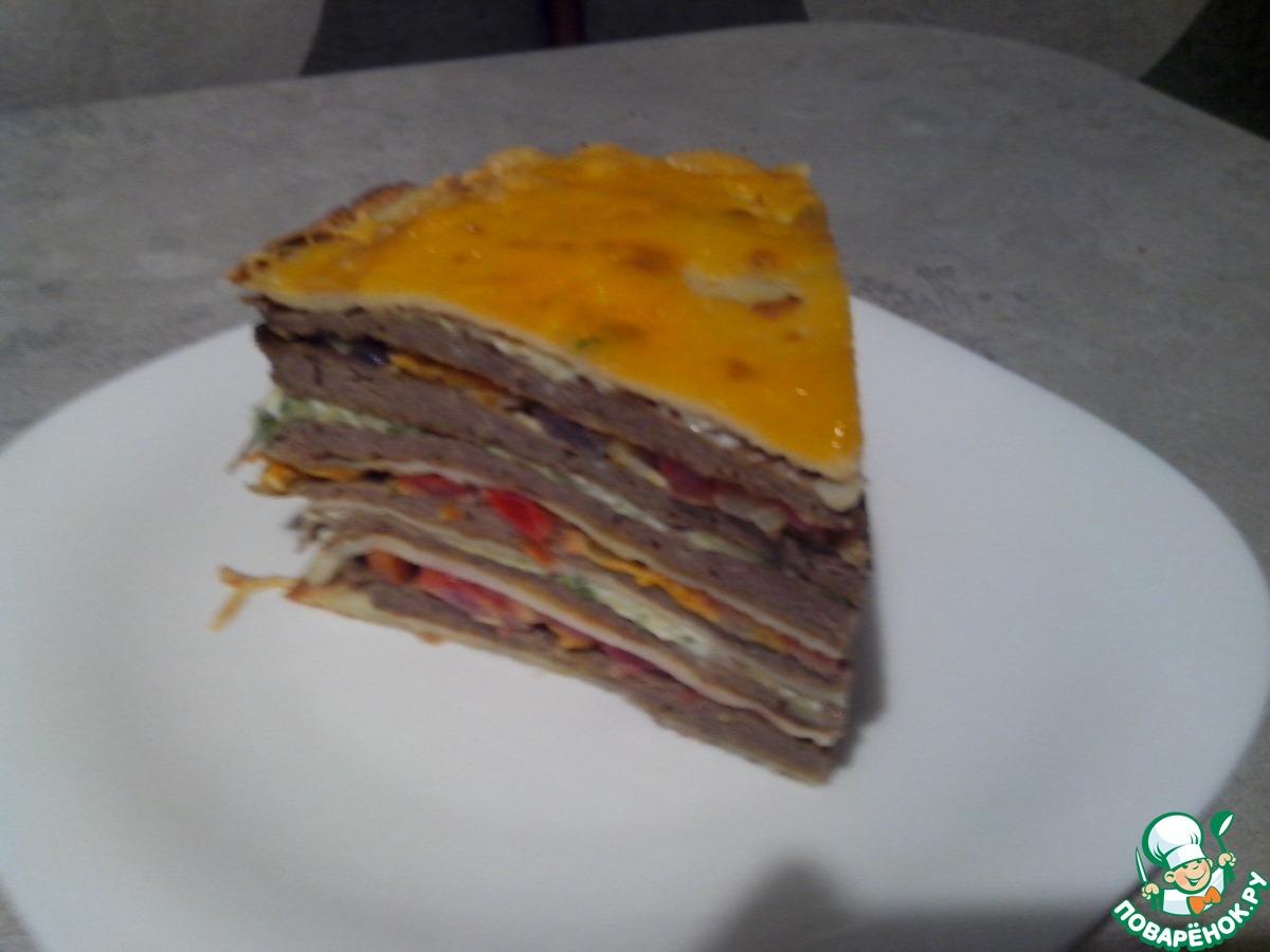 Закусочный блинный торт рецепт с пошагово в домашних условиях