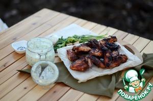 Рецепт Острые куриные крылышки с домашним с домашним йогуртовым соусом