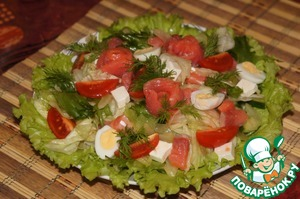 Рецепт Салат с семгой и сельдерем