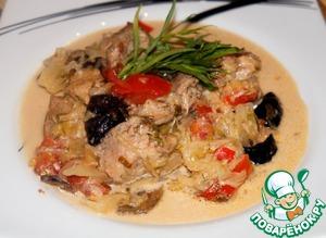 Рецепт Свинина, тушеная с черносливом